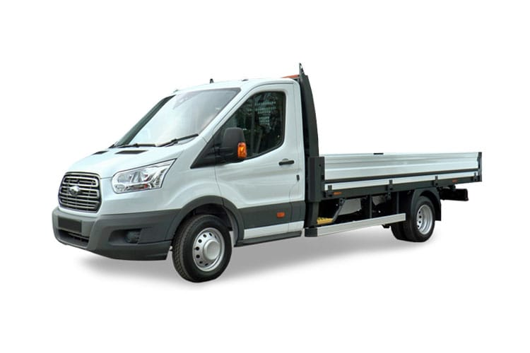 Ford Transit 350 L4 RWD 2.0 EcoBlue MHEV RWD 130PS Leader Premium Dropside Manual [Start Stop] front view