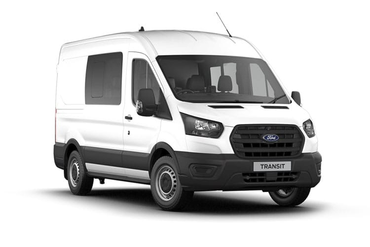 Ford Transit 350 L3 2.0 EcoBlue MHEV FWD 130PS Trend Crew Van High Roof Manual [Start Stop] [DCiV] front view